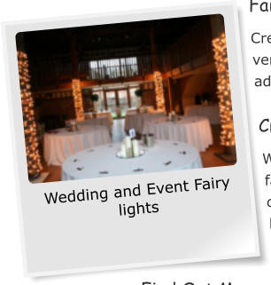 Wedding and Event Fairy lights