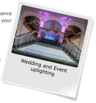 Wedding and Event uplighting